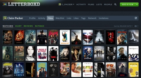 Letterboxd in 2013