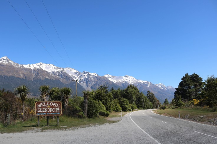 Signpost for Glenorchy, New Zealand.