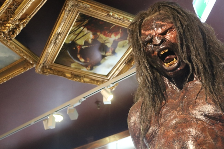 A model of the character Lurtz at the Weta Cave, Wellington.