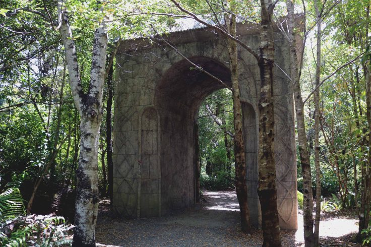 A Middle-earth archway in Kaitoke Regional Park.